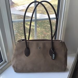 Cornell suede beige shoulder bag- Free in bundle